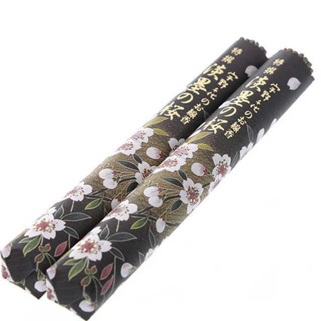 日本香堂 線香 宇野千代のお線香 特撰淡墨の桜 絵ローソクセット